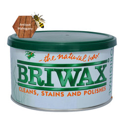 Briwax International - Briwax Original Furniture Wax 1 Lb, Antique Mahogany, 16 Oz. - Briwax, Original Wax Polish is a blend of pure beeswax, carnauba wax and cleaners. Briwax is ideal for floors, cabinets and millwork as well as leather, marble, metal and concrete and yet is gentle enough for the finest antiques. Briwax cleans and reconditions wood finishes. Briwax stains, seals and finishes new wood in one easy step. It retards oxidation on metal surfaces.