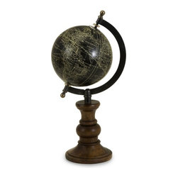 IMAX CORPORATION - Moonlight Globe - Ebony Moonlight Globe on Mango Wood stand. Find home furnishings, decor, and accessories from Posh Urban Furnishings. Beautiful, stylish furniture and decor that will brighten your home instantly. Shop modern, traditional, vintage, and world designs.