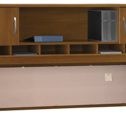 "Bush Series C 72""W Overhead (2 Door) in Warm Oak"