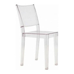 Square Side Chair - The Acrylic Square Side Chair is scratchproof,weatherproof and resistant to blows! This chair is stackable and perfect for either residential or commercial application.