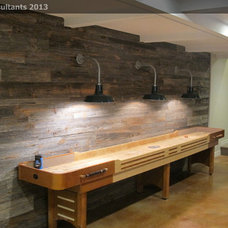 Farmhouse Basement by Opperwall Design Consultants