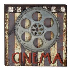 Ravishing Wood Metal Movie Plaque - Description: