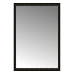 """Posters 2 Prints, LLC - 49"""" x 71"""" Mantilla Expresso Custom Framed Mirror - 49"""" x 71"""" Custom Framed Mirror made by Posters 2 Prints. Standard glass with unrivaled selection of crafted mirror frames.  Protected with category II safety backing to keep glass fragments together should the mirror be accidentally broken.  Safe arrival guaranteed.  Made in the United States of America"""