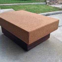 Suberra Cork and Reclaimed Old Growth Redwood Coffee Table - Reid Rowlands