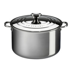 Le Creuset - Le Creuset 4 qt. Stainless Steel Casserole with Lid - SSP3100-20 - Shop for Casseroles from Hayneedle.com! Whip up some of your favorite comfort foods with the Le Creuset 4 qt. Stainless Steel Casserole with Lid. Crafted from durable tri-ply stainless steel this steel casserole has a full aluminum core protected by the rolled sealed and polished rim which heats quickly and evenly as well as a magnetic external layer which is induction-compatible and infused with titanium to resist discoloration. Made up of surgical-grade stainless steel the interior provides a safe and stable cooking surface while the proprietary steel blend of the pan resists pitting and scorching and maintains its luster over time. Featuring an ergonomic handle for easy maneuvering this pan also has a precision-pour rim which allows for clean easy pouring straight from the pan. The included lid helps to keep heat and moisture inside while cooking and keeps your food warm when served at the table. Oven safe up to 500 degrees Fahrenheit this pan is safe for gas electric ceramic halogen and induction stovetops. Additional Features Exterior is infused with titanium to resist discoloration Inside layer made of surgical-grade stainless steel Provides a safe and stable cooking surface Features a precision-pour rim Allows for clean convenient pouring from pan Ergonomic handles for easy maneuvering Proprietary steel blend resists pitting and scorching Maintains its luster over time Lid keeps heat and moisture inside Oven safe to 500 degrees Fahrenheit Safe for gas electric and ceramic stovetops Also safe on halogen and induction stovetops Dishwasher safe Limited lifetime warranty About Le Creuset of America Inc.From its cast iron cookware to its teakettles and mugs Le Creuset is a global standard of inimitable color and quality. Founded in 1925 in the northern French town of Fresnoy-Le-Grand Le Creuset still produces enameled cast iron in its original foundry. Its signature color Flame was mod