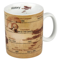 Konitz - Set of 4 Mugs of Knowledge History - Care to know when the first person walked on the moon? Made with the history buff in mind, the History Mug features a timeline of notable dates and important world events.