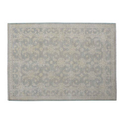 1800-Get-A-Rug - Oriental Rug Hand Knotted Rug Stone Wash Peshawar Sh11930 - About Oushak and Ziegler Mahal