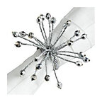 Silver Spray Napkin Ring - Glamorous sparkle for the sitting of my next dinner party.