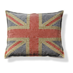 Origin Crafts - Union jack flag pillow set/2 - Union Jack Flag Pillow Set/2 Interior use. Dry clean only. Cotton with poly insert. Dimensions (in):20 x 17.25 By Napa Home & Garden - Napa Home & Garden is a wholesale manufacturer of distinctive home & garden decorative accessories. Estimated Delivery Time 1-2 Weeks. Please be aware that some products are handmade and unique therefore there may be slight variations in each individual product.