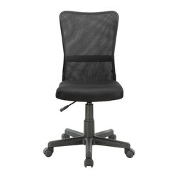 Modway Furniture - Modway Comfort Office Chair in Black - Office Chair in Black belongs to Comfort Collection by Modway Stay climate-neutral all day long with a supportive breathable mesh back and padded fabric seat. The ergonomically designed chair is the height of comfort coupled with ultra modern design. Set Includes: One - Comfort-Flex Black Mesh Task Chair Officce Chair (1)