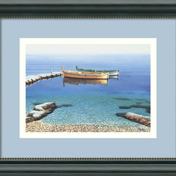 Amanti Art - Peaceful Morning Framed Print by Frane Mlinar - You may lead an active, urban life but it doesn't mean you don't appreciate a quiet moment. Artist Fran Mlinar captures one of those tranquil moments in this serene scene on the water.