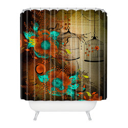 DENY Designs - Iveta Abolina Rusty Lace Shower Curtain - Who says bathrooms can't be fun? To get the most bang for your buck, start with an artistic, inventive shower curtain. We've got endless options that will really make your bathroom pop. Heck, your guests may start spending a little extra time in there because of it!