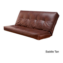 None - Bonded Leather Oregon Trail Full-size Futon Cover - Give your guest bedroom a distinctive makeover with this full-size futon cover. Featuring elegant bonded leather,this futon cover will elevate the decor in your room. Your guests will love the beauty and comfort of this sophisticated futon cover.