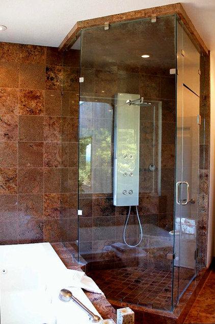 Contemporary Showers by SGO Designer Glass and Doors