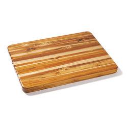 Proteak - Proteak Edge Grain Teak Cutting Board  Reversible,  24x18x1.5 - This large teak edge-grain butcher block cutting board is 24 inches by 18, and 1-1/2 inches thick. Teak contains natural oil that makes it water-resistant.