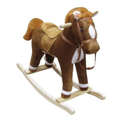 Fifthroom - Plush Blaze Rocking Horse - Blaze the rocking horse will have your little cowboy or cowgirl enjoying many hours of fun. Press his ears to hear him whinney and make galloping sounds. Sound feature requires button batteries, which are included.