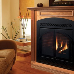 Majestic DVB Series 37'' x 42'' Direct Vent Gas Fireplace System - Fire control at your fingertips — This exclusive system gives you a full-featured command center for your fireplace. The optional remote offers even more flexibility.