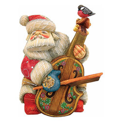 "Musician Cellist Santa Claus Artistic Wood Carved Sculpture - Measures 7""H x 4""L x 3.5""W. G. DeBrekht fine art traditional, vintage style sculpted figures are delightful and imaginative. Each figurine is artistically hand-painted with detailed scenes including classic Christmas art, winter wonderlands and the true meaning of Christmas, nativity art. In the spirit of giving G.DeBrekht holiday decor makes beautiful collectible Christmas and holiday gifts to share with loved ones. Every G. DeBrekht holiday decoration is an original work of art sure to be cherished as a family tradition and treasured by future generations. Some items may have slight variations of the decoration on the decor due to the hand painted nature of the product. Decorating your home for Christmas is a special time for families. With G. DeBrekht holiday home decor and decorations you can choose your style and create a true holiday gallery of art for your family to enjoy"