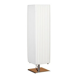 "BZBZ60001 - Metal White Table Lamp with Shade 23"" - Metal white table lamp with shade 23"". It looks like a decorative sculpture; and can be used as classical garden light decor also during parties. The special design of shade delivers unique lighting effect in the surrounding areas."