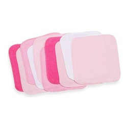 Spasilk - Spasilk  10-Pack Washcloths in Solid Pinks - These soft and absorbent washcloths are ideal for baby's bath. The soft and smooth fabric will make bath time a pleasure, as your baby smiles with glee.