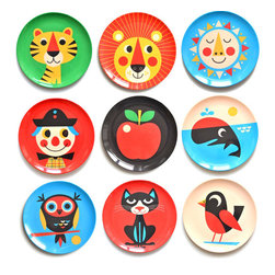 Ingela P. Arrhenius Melamine Plates - I adore these illustrated plates. They're perfect for a kid's room, but frankly, I want to hang the sun on my kitchen wall.