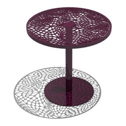 "Arktura - Coral Cafe Table - Note: this item is not able to be cancelled or returned once an order is placed. The cellular, organic patterns of the Coral cafe table add a little excitement to the caf� experience. Inspired by nature, these algorithmically generated patterns are laser cut into the steel top and finished with a zero VOC powder coat. The Coral cafe table is a versatile piece that works equally well in an indoor or outdoor environment. Pairs perfectly with the Coral Stools. Designed by: Chris Kabatsi Features: -Constructed of powder-coated steel. -Algorithmically generated patterns. -Steel top, finished with a zero VOC powder coat. -Versatile piece. -Top Diameters: 18"", 24"", 30"". -Heights: 22"", 29.5"", 40""."