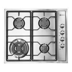 Verona 24-inch Gas Cooktop - Verona 24-inch Side Control Gas Cooktop in stainless steel.  Featuring 4 sealed high btu gas burners, electronic ignition and flame failure safety.
