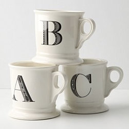 Anthropologie - Monogram Mug - *Available in letters A-Z