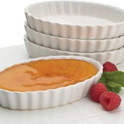 Other Brands - BonJour Creme Brulee Oval Ramekins- Set of 4 Multicolor - 53351 - Shop for Souffle Dishes & Ramekins from Hayneedle.com! The BonJour Creme Brulee Oval Ramekins Set of 4 is a great way to impress your guests or celebrate a special occasion with family. Each of these oval-shaped ramekins has a four-ounce capacity and measures 5W x 3.25D x 1H inches. Professional fluted edges make for an extra-elegant presentation.These ramekins are oven- dishwasher- and microwave-safe. They're the perfect way to present all types of professional desserts from creme brulee to custard panna cotta and more.
