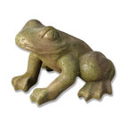 Orlandi Statuary - Jumper Frog Garden Statue Multicolor - F7719FROGOFGARDEN - Shop for Statues and Sculptures from Hayneedle.com! Accentuate your pond or wishing well with the whimsical presence of this Jumper Frog Garden Statue. Charismatic and charming this frog is expertly sculpted in high detail to create a lifelike impression. This garden statue is cast in weather-resistant fiberglass resin designed for lightweight durability. Highlighted with a detail-enhancing finish and engineered not to peel. From the alert eyes to the muscles of the body the frog is ready to spring to life and looks great amidst the greenery of your lawn.About Orlandi StatuaryBorn in 1911 when Egisto Orlandi traveled from Lucca Italy to Chicago Illinois Orlandi Statuary quickly set the standard for excellence in their industry. Egisto took great pride in his craft and reputation and which is why artists interior designers and museums relied upon the careful details and impeccable quality he demanded. Over the years they've evolved into a company supplying more than statuary. Orlandi's many collections today include fiber stone for the garden religious statuary fountains columns and pedestals. Their factory and showroom are still proudly located in Chicago where after 100 years they remain an industry icon.