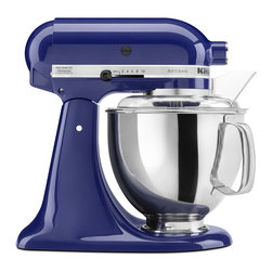 KitchenAid - KitchenAid RRK150BU Cobalt Blue 5-quart Artisan Stand Mixer (Refurbished) - Get your kitchen up to date with this five-quart stand mixer from KitchenAid. This mixer has a power hub for additional attachments and a ten-speed slide control to handle a wide variety of mixing needs.