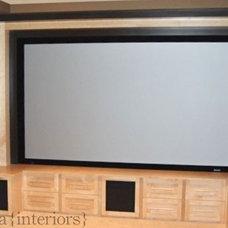 Contemporary Home Theater by Veranda Estate Homes & Interiors