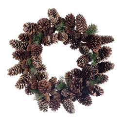 Silk Plants Direct - Silk Plants Direct Pine Cone and Pine Wreath (Pack of 1) - Pack of 1. Silk Plants Direct specializes in manufacturing, design and supply of the most life-like, premium quality artificial plants, trees, flowers, arrangements, topiaries and containers for home, office and commercial use. Our Pine Cone and Pine Wreath includes the following: