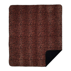 Throw Blanket Denali Jaguar/Black - Denali micro plush throws are considered the Cadillac of throws due to their rich colors and soft feel. These throws are softer and warmer than fleece.
