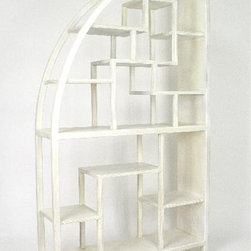 Wayborn - Hangchu Display Unit - Unique shape. Multi-sized compartments. Made from Birchwood. Smooth finish. 40 in. W x 12 in. D x 72 in. H (68 lbs.)
