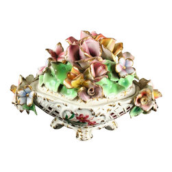 EuroLux Home - Consigned Vintage Italian Capodimonte-Style Lidded - Product Details
