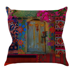 """Kess InHouse - S. Seema Z """"Ethnic Escape"""" Ped Pink Throw Pillow (16"""" x 16"""") - Rest among the art you love. Transform your hang out room into a hip gallery, that's also comfortable. With this pillow you can create an environment that reflects your unique style. It's amazing what a throw pillow can do to complete a room. (Kess InHouse is not responsible for pillow fighting that may occur as the result of creative stimulation)."""