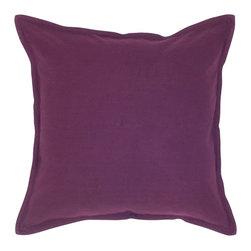 """Purple Solid 20"""" x 20"""" Pillow  Set of 2 - *20"""" x 20"""" Pillow with Hidden Zipper"""