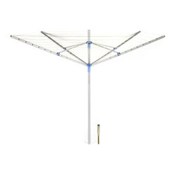 Moerman - Moerman 88342 11-Line Outdoor Umbrella Clothesline Multicolor - 88342 - Shop for Drying Lines from Hayneedle.com! Drying your clothes naturally whether indoors or out saves you money and saves the world energy. 11-Line Outdoor Umbrella Clothesline has more than enough drying space for a family of four which saves your wallet and our kids' tomorrow. The aluminum construction is durable but lightweight and adjustable height settings make it easy for all family members to load.