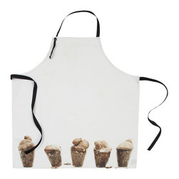 By Nord Copenhagen - Kids Popover Apron - For the budding baker who likes to help out in the kitchen: a really cute apron with a digital print of Popovers.