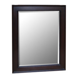 "Kitchen Bath Collection - Kitchen Bath Collection 28-inch Wall Mirror (Chocolate) - This classic wall mirror is a perfect match for any Kitchen Bath Collection chocolate-colored bathroom cabinet. Dimensions: 28"" wide x 35"" high x 1.25"" thick. Frame: 3.25"" wide."