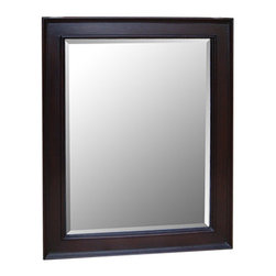 """Kitchen Bath Collection - Kitchen Bath Collection 28-inch Wall Mirror (Chocolate) - This classic wall mirror is a perfect match for any Kitchen Bath Collection chocolate-colored bathroom cabinet. Dimensions: 28"""" wide x 35"""" high x 1.25"""" thick. Frame: 3.25"""" wide."""