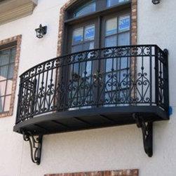 iron railings/ iron hardware -