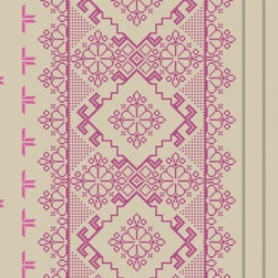 Walls Republic - Homey Metallic Wallpaper R1034, Double Roll - Homey contains a motif geometric pattern giving your walls a beautiful traditional look. Use it on any wall to create a more cozy and homey environment. This stitched looking pattern is great in a bedroom, living room, or kid s space.
