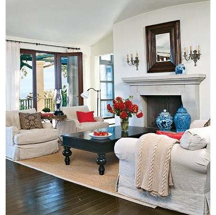 Tropical  living room from Coastal Living