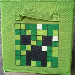Minecraft Fabric Bin Storage by 3 Feet Tall - Store your resources in this clever Creeper storage bin — a steal at only $12! The seller makes other character bins as well.