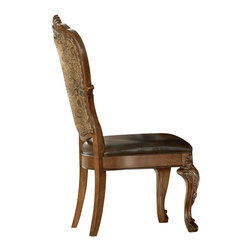 A.R.T. - A.R.T. Old World Upholstered Side Chair in Cherry (Set of 2) - The traditional design of Old World is inspired primarily by classic European styles of antiquity. Clearly influenced by the later Renaissance period, which featured enrichment of ornament and outline, Old World reflects the elaborate details of the French and English translation of this significant architectural movement.