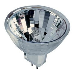 Bulbrite - 65-Watt Clear Halogen Light Bulbs - 10 Bulbs - One pack of 10 Bulbs. 12V standard GU5.3 bi-pin base bulb. 35 degree beam spread. Provides lense for UV protection. Ideal for residential and commercial applications. Perfect for track, landscape, recessed cans, down lights, pendants and landscape lighting. Dimmable. Average hours: 2000. Color rendering index: 100. Color temperature: 2700 K. Lumens: 2400 CP. Maximum overall length: 1.75 in.