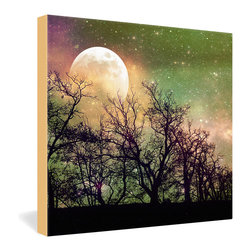 DENY Designs - Shannon Clark Moon Magic Gallery Wrapped Canvas - The naturally romantic moon is given a touch of extra magic in this layered and filtered photo image from Shannon Clark. Dye-printed onto a 1 1/2-inch-deep canvas for frameless wall display, this dreamy twilight image would look beautiful over the bed or wherever you like to dream.