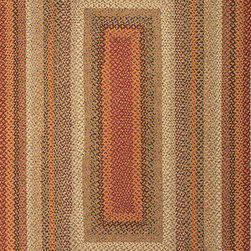 """Cotton Braided Rugs CBR04 Rug - 2'3""""x3'9""""Oval - These braided cotton rugs are both durable and rich in color and style."""